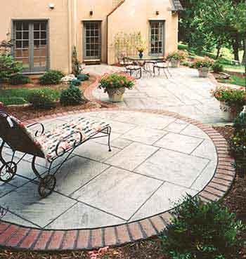 Round Patio design » circular patio designs - inspiring garden and landscape